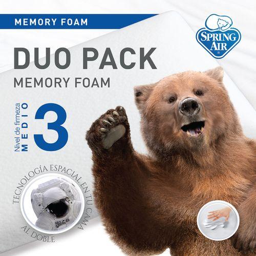 Paquete de Almohadas Duo Pack Memory Foam