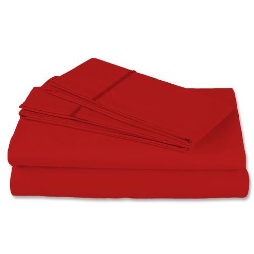 Juego de Sábanas Satín 400 hilos 100% algodón Luxury Touch Rojo